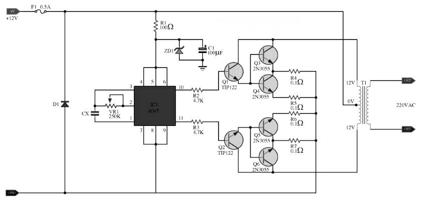 Wiring Manual PDF: 100 W Inverter Circuit Diagram