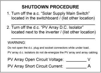 Shut Down Procedure - Inverter Repairs & Replacement Svs.