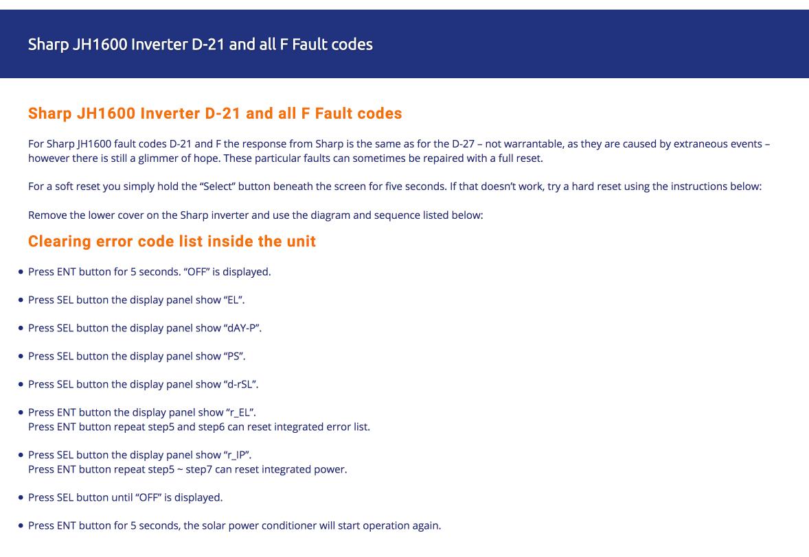 sharp-jh1600-inverter-reset-instructions - Inverter Repairs