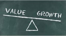 value-growth% - La gran divergencia del value respecto al growth en RV EEUU