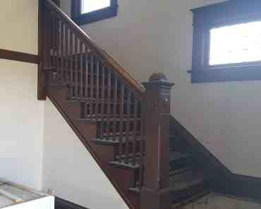 house flip after the remodel stairs