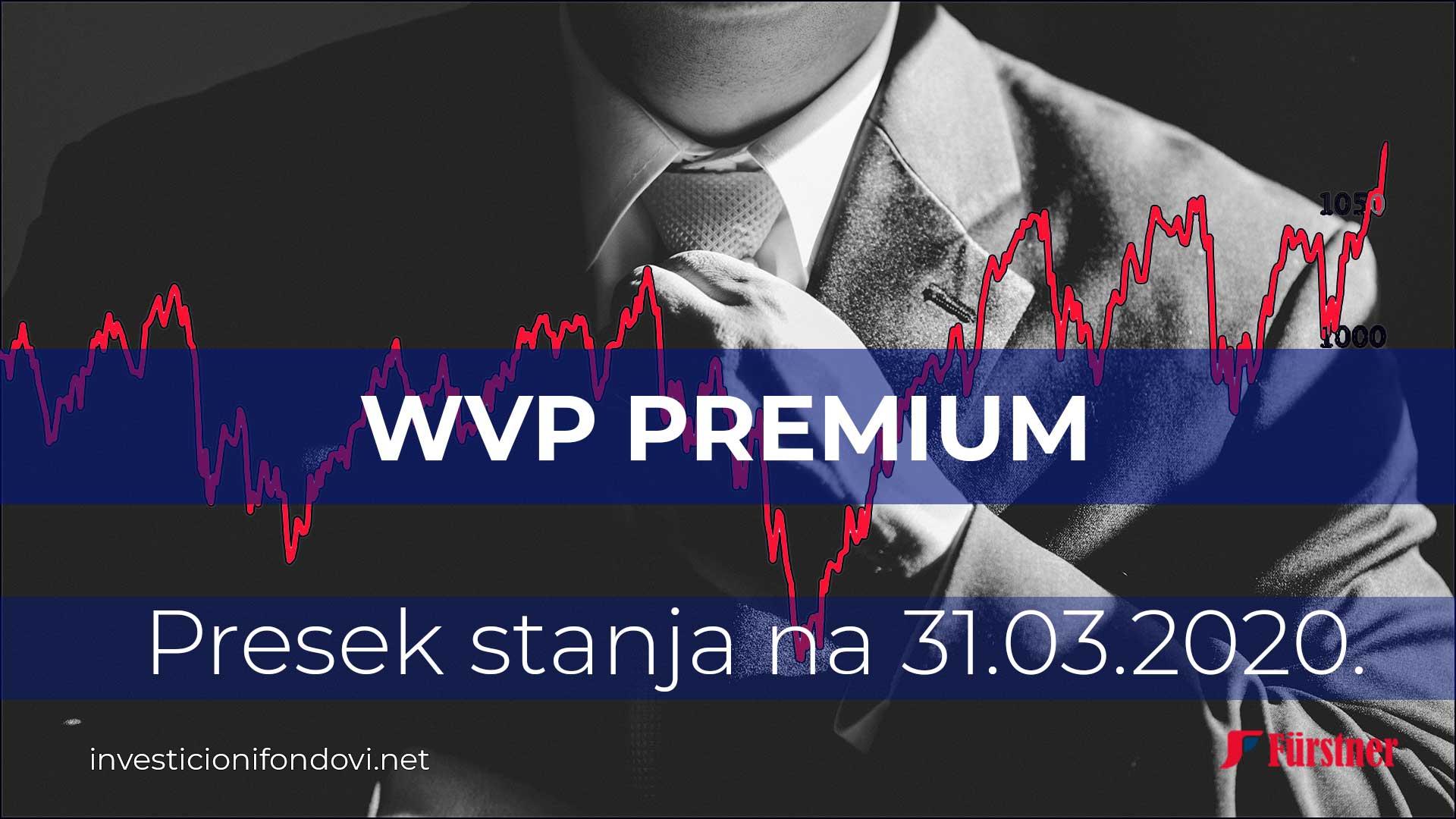 Presek stanja WVP Premium 31.03.2020. | Investicioni fondovi