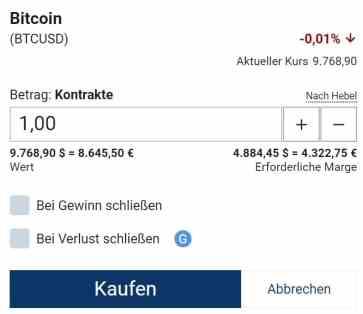 Bitcoin order Plus500