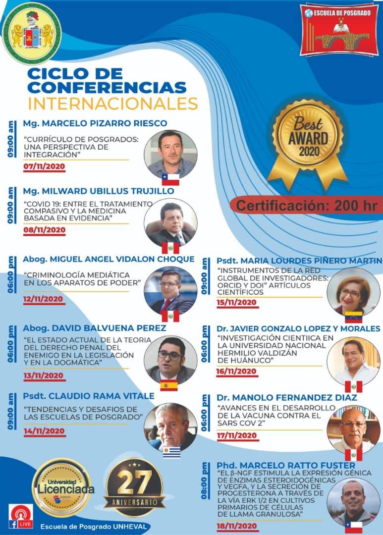 Participación de la Dra. María Lourdes Piñero en Ciclo de Conferencias Internacionales