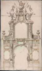 Teodoro Ardemans: Arco para la entrada de Felipe V en Madrid. Biblioteca Nacional, Madrid.