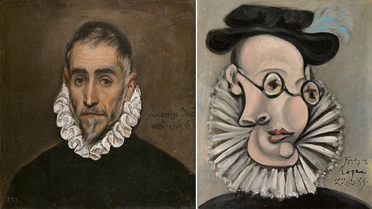 Caballero anciano / Pablo Picasso- Retrato de Jaume Sabartés con gorguera y sombrero