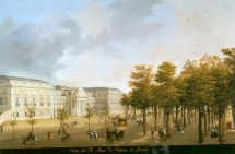 Fernando Brambilla: Vista del Real Museo de Pintura, 1820. Patrimonio Nacional, Madrid.