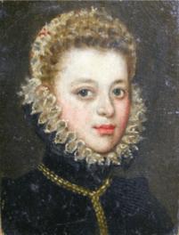 Sofonisba Anguissola: Dama de lechuguilla alta, c.1585. Colección Muñoz.