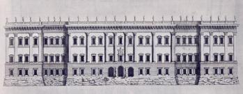 Gian Lorenzo Bernini: Proyecto definitivo para el Louvre, 1665.