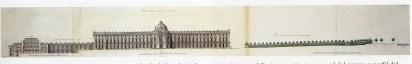 Robert de Cotte: Primer proyecto. Alzado para la fachada principal, 1714-1715. Biblioteca Nacional de Francia, París.