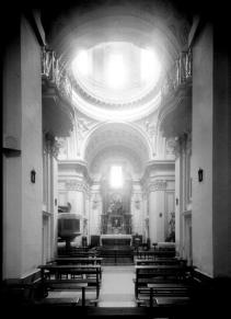 Vista del interior de la desaparecida Iglesia de San Sebastián.