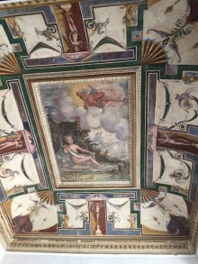 Sala con la representación de Dánae y la lluvia de oro. Palacio del Viso del Marqués.