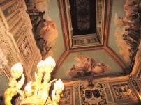 Techo de la caja de escalera del Palacio de Santoña.