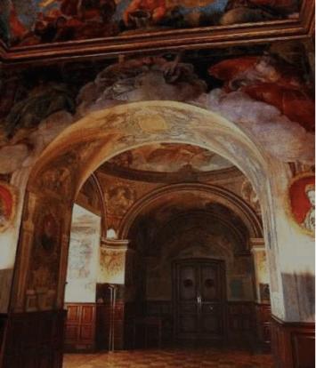 Antonio Palomino: Vista de las pinturas al fresco del Oratorio de la Villa.