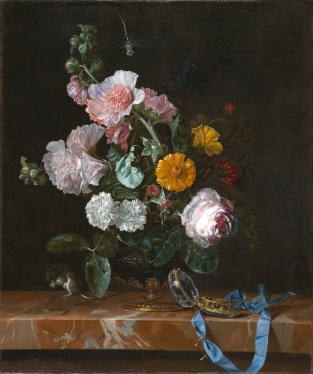 Willem Van Aelst: Vanitas con florero. Siglo XVII. North Carolina Museum of Art.