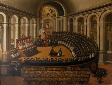 Anónimo: Sesión del Concilio de Trento en la Iglesia de Santa María la Maggiore.