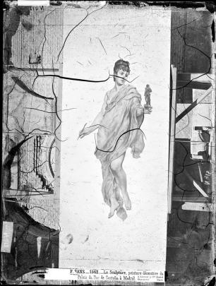 J. Laurente. Alegoría de la Escultura de Sans Cabot