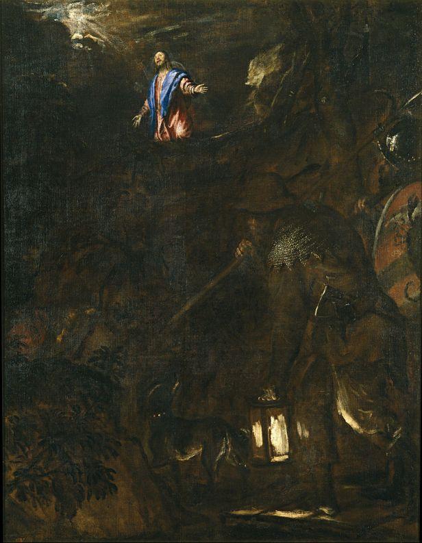 Tiziano. Oración en el Huerto. ca. 1562. Museo del Prado