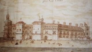 Antón van den Wyngaerde: Vista del Palacio Real de Madrid, ca. 1567, Viena, Österreichische National-Bibliothek.