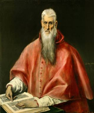 El Greco: San Jerónimo. The Frick Collection.