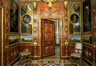 Vista del Gabinete de Platino de la Real Casa del Labrador de Aranjuez.