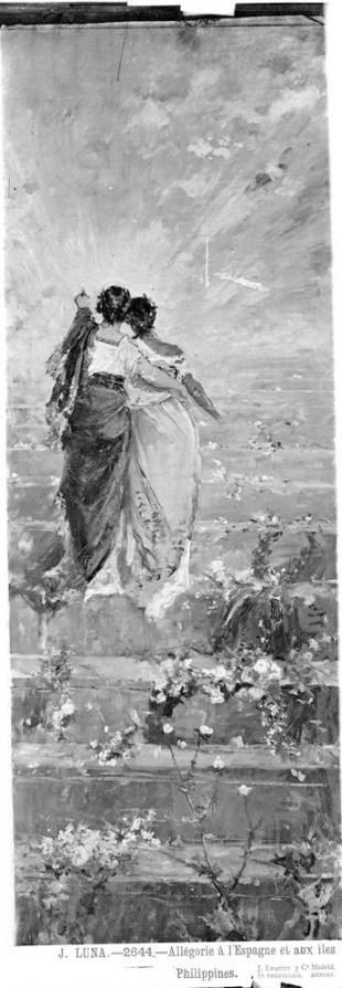 Jean Laurent: J. Luna Alegoría de España y Filipinas. foto: IPCE