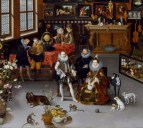 Jan Brueghel el Viejo: Los Archiduques Alberto e Isabel visitando un gabinete de coleccionista. Baltimore, Museo Walters.