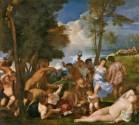 Tiziano: La bacanal de los Andrios. Madrid, Museo Nacional del Prado.