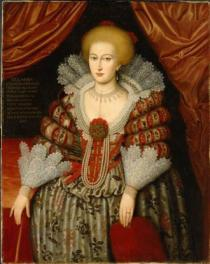 Anónimo: La reina María Eleonora de Brandenburgo. Museo Nacional de Estocolmo.