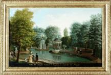Fernando Brambilla: Vista del estanque del Jardín del Príncipe. Patrimonio Nacional.