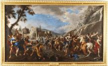 Domenico Gargiulo: Rapto de las Sabinas. Patrimonio Nacional.