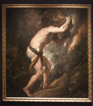 Tiziano: Sísifo. Museo Nacional del Prado.
