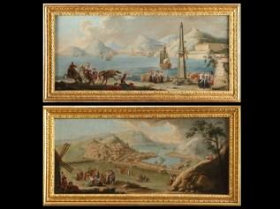 Manuel de la Cruz: Vistas del Puerto de Cartagena. Patrimonio Nacional.
