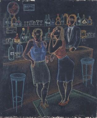 Anna-Eva Bergman: [Sin título], 1931, 55 X 46 cm, tempera sobre tela. Foto: Fundación Hartung Bergman.