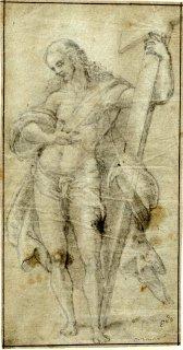 Sebastiano del Piombo: Cristo resucitado. Londres, British Museum, nº inv. SL,5237.51.