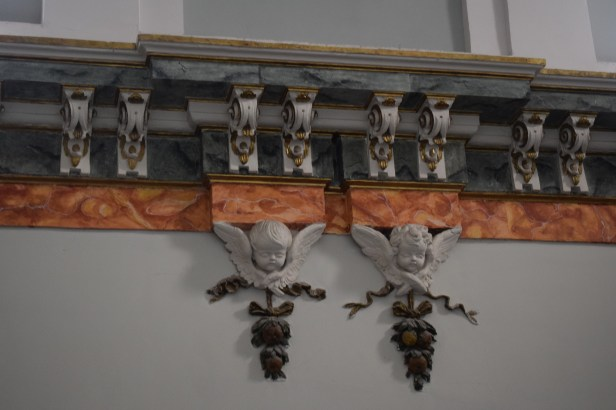 Detalle decoración sala capitular. Cartuja del Paular