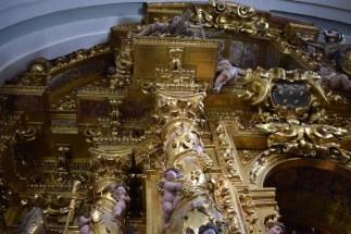 Detalle de las columnas salomónicas. Cartuja de El Paular