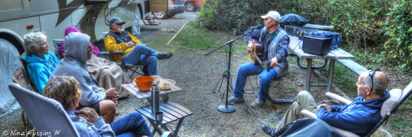Impromptu intimate concert at our RV site