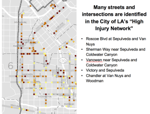 Several high-injury intersections are concentrated in Panorama City.