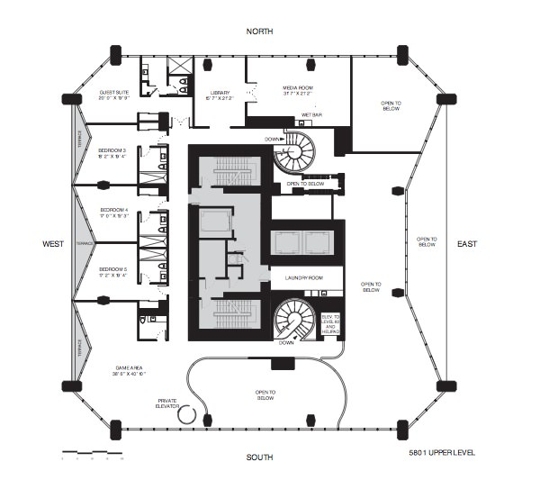 One Thousand Museum Floor Plans Full Floor Penthouses