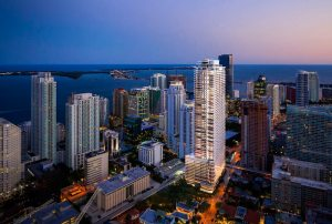 Brickell Flatiron Tower Aerial 1