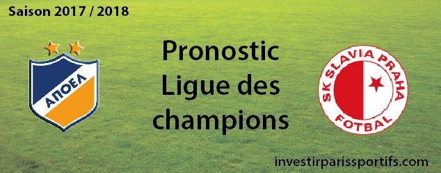 [Public] Pari n°1 – Apoel Nicosi / Slavia Prague – Ligue des champions