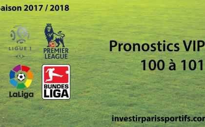 Pronostics VIP 100 à 101 - investirparissportifs.com