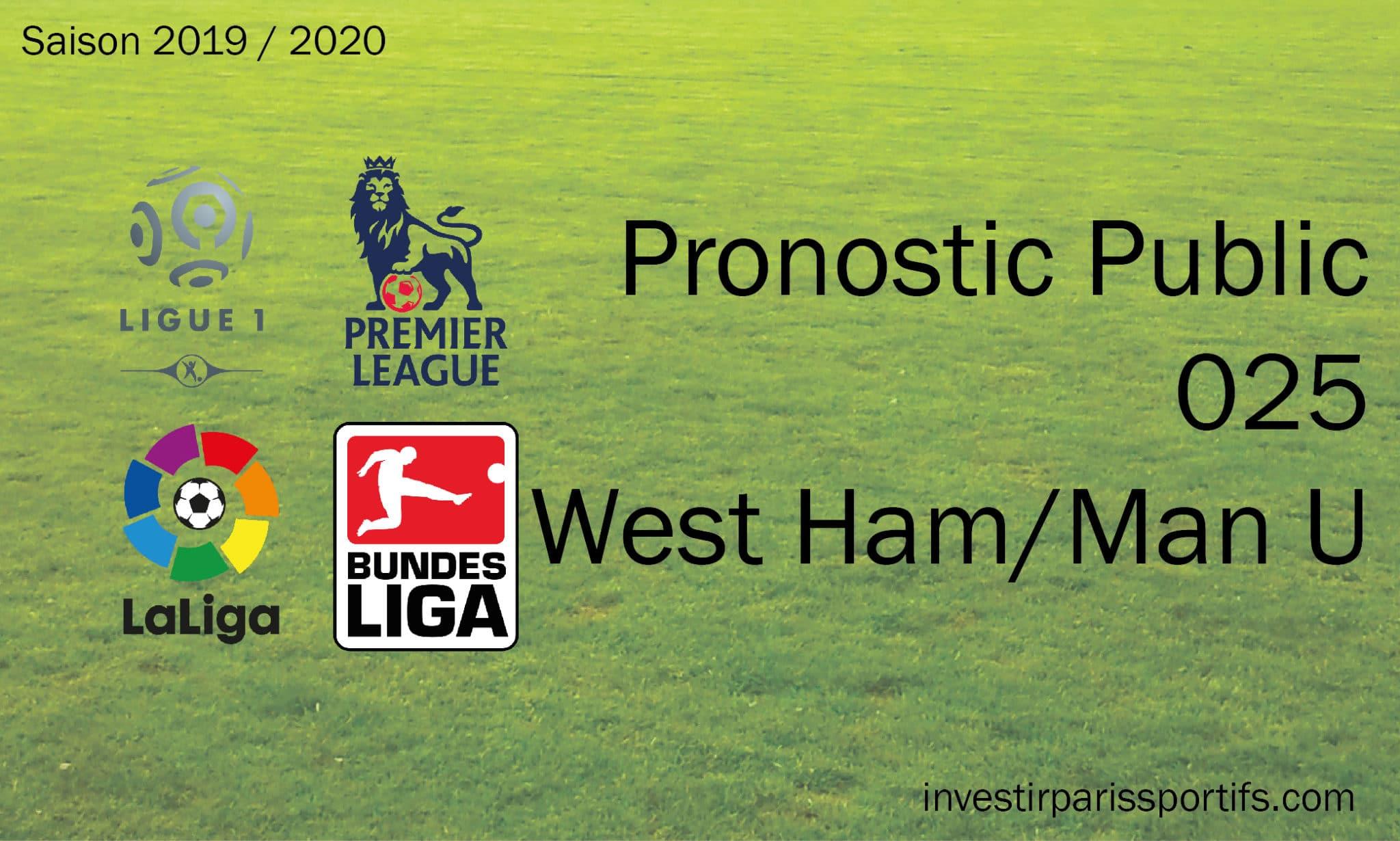 Pronostic 025 – West Ham : Manchester United – PL