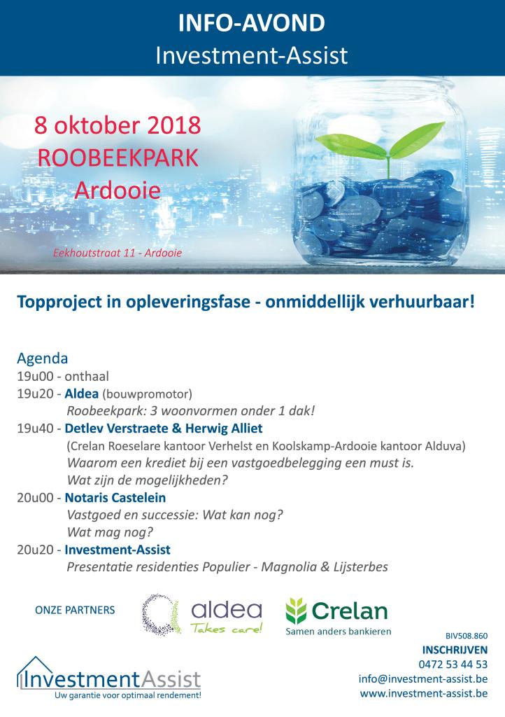 Investment-Assist organiseert een info-avond te Roobeekpark Ardooie