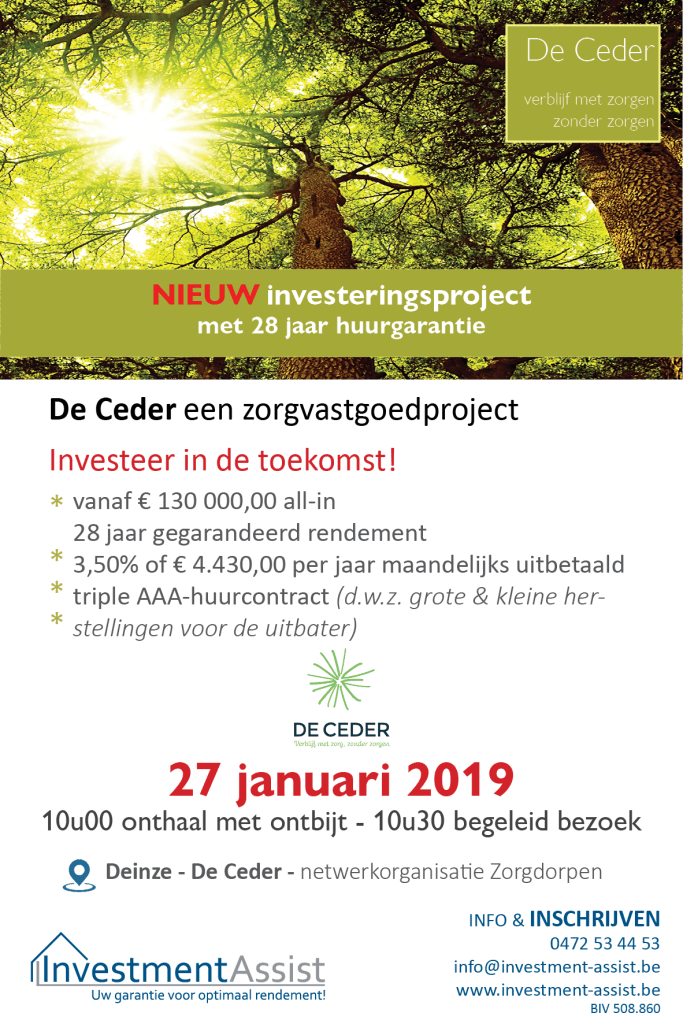 Ontbijt-infosessie De Ceder Deinze Investment-Assist.be
