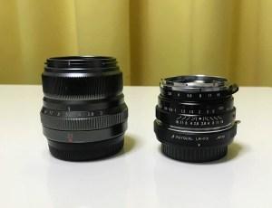 レンズを比較した画像