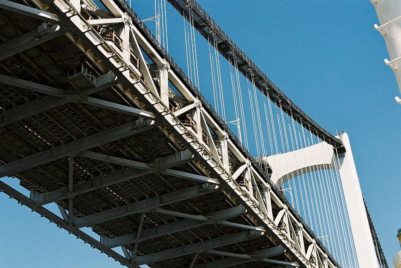 橋を下から