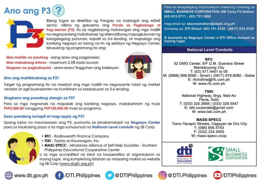 DTI P3: Affordable Loans for Small Businesses (5K to 100K)