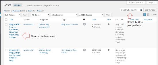 Editing Post Title in WordPress